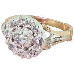 Georgian 0.50 Carat Rose Cut Diamond Cluster Ring