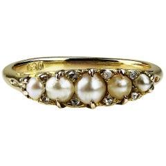 Natural Pearl Engagement Rings