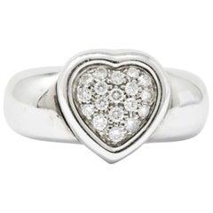 Piaget 1997 0.36 Carat Diamond 18 Karat White Gold Heart Ring