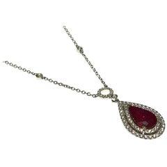 Ruby Drop Necklaces
