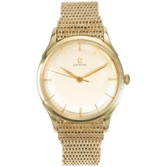 Omega Yellow Gold Manual Wristwatch Ref 371, 1950s