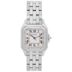 Cartier Stainless Steel Panther Quartz Wristwatch
