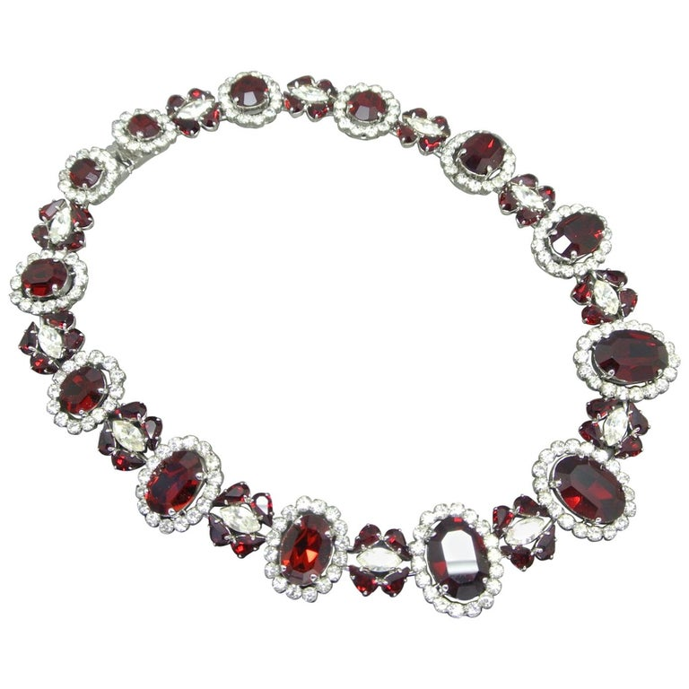 Christian Dior 1963 Red Crystal Necklace