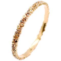 Kanwar Creations 7.10 Carat Multicolored Diamond Bangle in 18 Karat Matte Gold