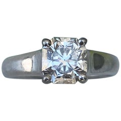 Tiffany & Co. Lucida Diamond Engagement Ring 1.33 Carat, H VVS2, Retail 23 Karat