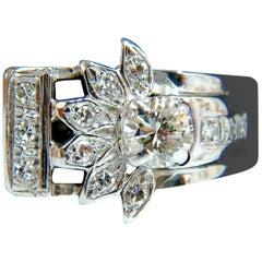 .72 Carat Victorian Revival Diamonds Cocktail Ring G/VS 14 Karat