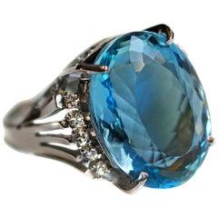 Aquamarine Fashion Rings