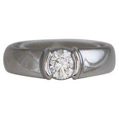 Tiffany & Co. Etoile Platinum 0.81 Carat Round F VVS2 Diamond Engagement Ring