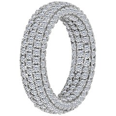 Emilio Jewelry Inside Out 360 Degree Diamond Pave Eternity Band