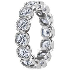 Emilio Jewelry .30 Carat Each Diamond Platinum Eternity Ring