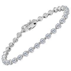 Emilio Jewelry Floating Diamond Bracelet .30 Carat Each Diamond