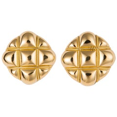 Tiffany & Co. Quilted Gold Earrings