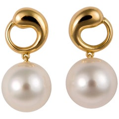 Elsa Peretti for Tiffany & Co. Pearl and Gold Earrings