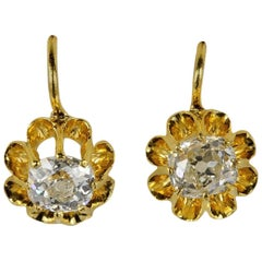 Victorian 1.0 Carat G VVS/VS Diamond Solitaire Earrings