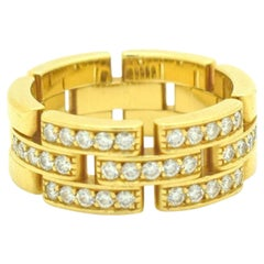 Cartier Maillon Panthère Diamond Ring 18 Karat Yellow Gold