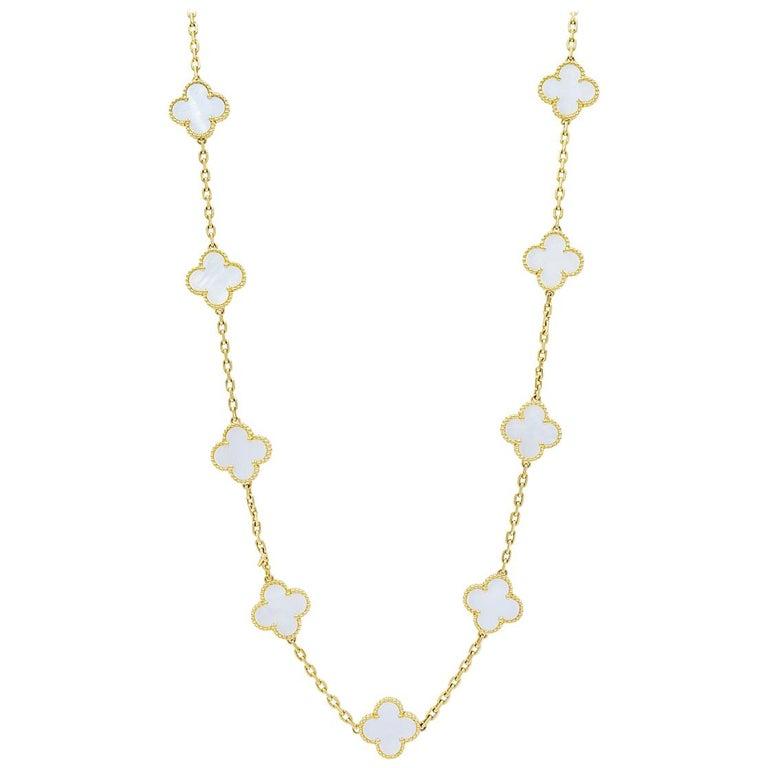 Vintage Alhambra Long Necklace, 20 Motifs by Van Cleef & Arpels