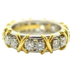Tiffany & Co. Schlumberger 16-Stone Diamond Ring in Platinum and Gold