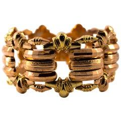 Art Deco 1930s Rose Gold Yellow Gold Bracelet