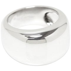 Cartier Nouvelle Vague 18 Karat White Gold Wide Ring