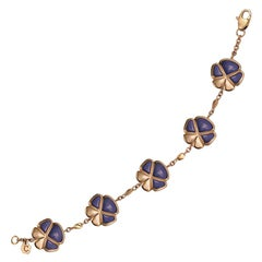 Ambrosi Exclusive 18 Karat Rose Gold and Lavender Jade Bracelet