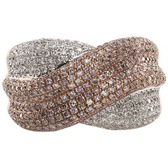 1.99 Carat Natural Pink Diamond Pave Ring