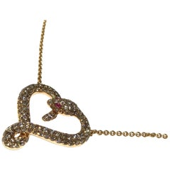 Heart Shape Snake Necklace