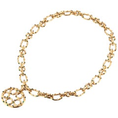 1970's Multi Gem Sautoir Necklace