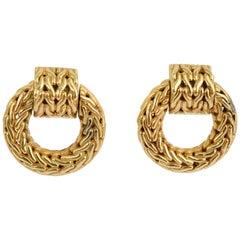 John Hardy Gold Woven Earrings