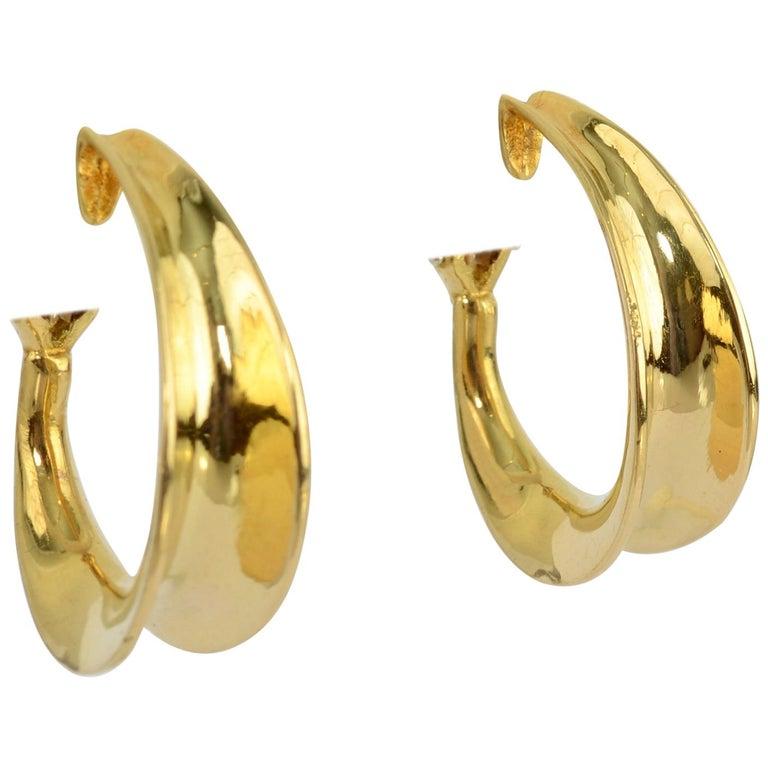 Tiffany & Co. Gold Hoop Earrings