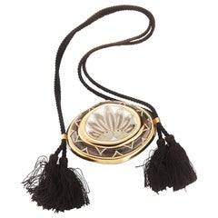 Diamond and Mother-of-Pearl Gold Clutch by Tabbah