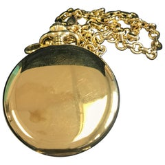 Tiffany & Co. Pocket Watch 18 Karat Gold with Solid Thick Chain, Box and Receipt