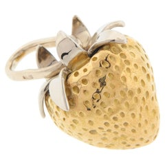 Cartier Fruits of Summer Collection by Aldo Cipullo Strawberry Charm 18k Gold