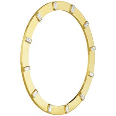 Cadar Sole Bracelet, 18 Karat Yellow Gold and 2.54 Carat White Diamonds, Medium