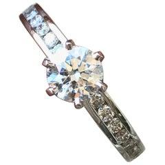 Tiffany & Co. Platinum 0.77 Carat Engagement Ring E VS1 Center Round
