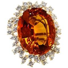 Palmeria Citrine Diamond and Gold Ring