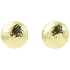 Ippolita Hammered Disc Gold Earrings