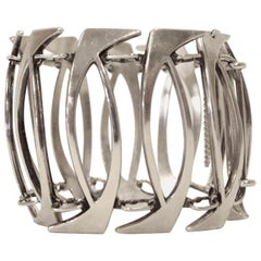 Scandinavian Silver Bracelet by Gine Sommerfelt for J. Tostrup, Norway, 1960s