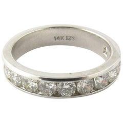 14 Karat White Gold Channel Set Diamond Band