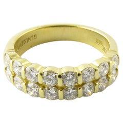 18 Karat Yellow Gold Diamond Wedding Band
