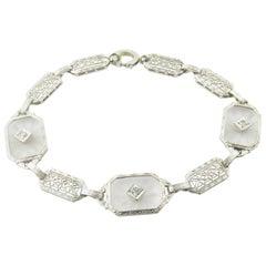 14 Karat White Gold and Diamond Bracelet