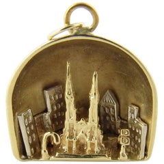 14 Karat Yellow Gold St. Patrick's Cathedral Charm