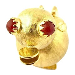 18 Karat Yellow Gold Duck Charm