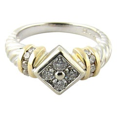 14 Karat White and Yellow Gold Diamond Ring
