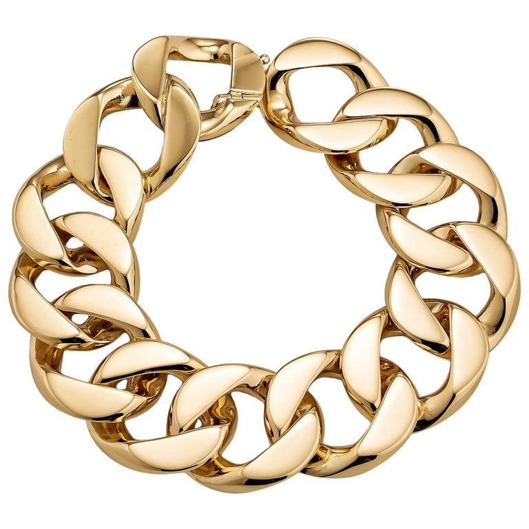 Vintage Cartier Gold Curb Link Bracelet