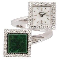 Piaget Diamond and Jade Ring Watch