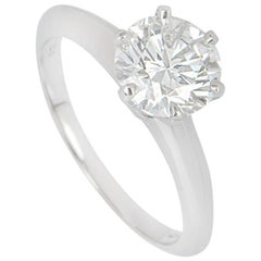 Tiffany & Co. Platinum Diamond Setting Ring 1.50 Carat