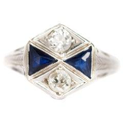 .40 Carat Total Weight Diamond White Gold Engagement Ring