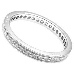 Cartier Diamond Eternity Platinum Band Ring