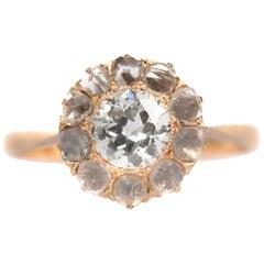 .55 Carat Diamond Yellow Gold Engagement Ring