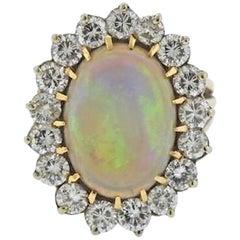 Impressive Large Opal 3.00 Carat VS Diamond Cocktail Ring